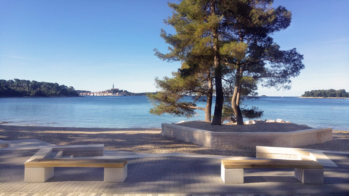 The first phase of construction of the Valdaliso beach in Rovinj has been completed